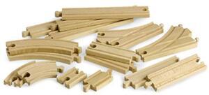BRIO Mittleres Schienensortiment 16 Teile, 54-216 mm, Holz, passend zu allen Briobahnen 40233402