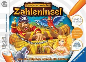 Ravensburger Tiptoi Geheimnis Zahleninsel 5-10 Jahre, 1-4 Spieler, Stift nicht enthalten Ravensburger;5123