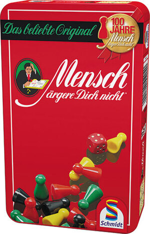 Schmidt Spiele Mensch ärgere Dich nicht (Metalldose) 4051204