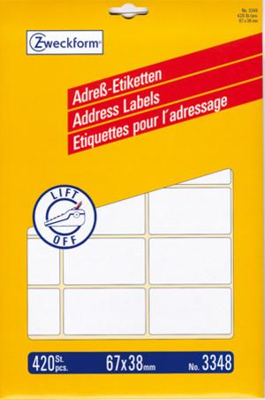 AVERY Zweckform AVERY ZW. Adress-Etiketten 67x38mm 3348Z
