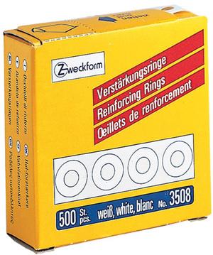 AVERY Zweckform 3508 Verstärkungs Ringe, Ø 13 mm, 1 Rolle/500 Verstärkungsringe, weiss 3508