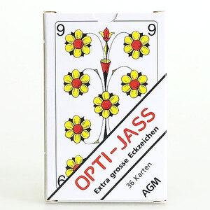 AGM Jasskarten Opti extra grossen Zahlen, Karten 57x88 mm, Kartonetui 62511140