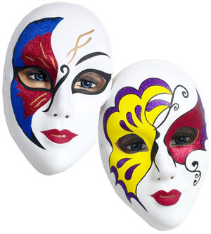Festartikel Müller Maske Venezianisch Glitter sortiert, Plastik 81940747