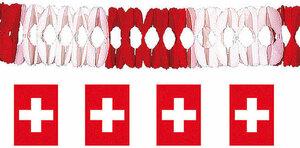 Diverse Girlande Schweizerkreuz, 4 m schwer entflammbar 83101094