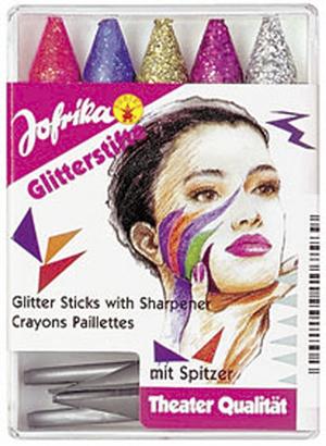 Jofrika Glitterstifte 5 Stk. mit Spitzer 83710758