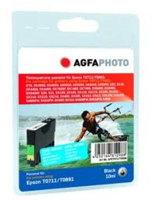 Agfa Agfa Tinte Photo schwarz zu Epson T0711/T0891, schwarz, 7.4ml, zu Stylus D78/S20 APET071_T089BD