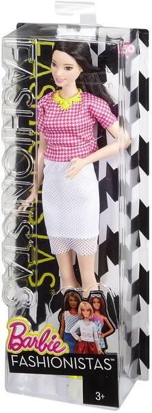 Barbie Fashionista mit weissem Rock DMF32
