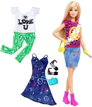 Barbie Fashionistas Style Puppe und Moden Peace & Love DTD98