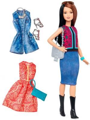 Barbie Fashionistas Style Puppe und Moden mit Oberteil mit Paisley-Muster DTF04