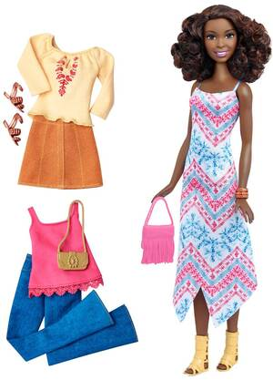 Barbie Fashionistas Style Puppe und Moden mit Fransentasche DTF08