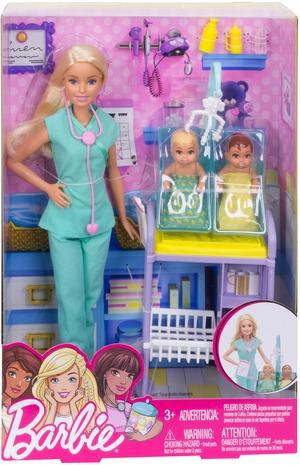 Barbie Kinderärztin Spielset Barbie Berufe, Puppe, Tisch, Zubehör, ab 3+ 57019710