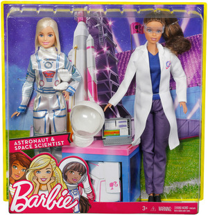 Barbie 2er Set Karriere-Puppen: Astronautin und Weltraumforscherin FCP65