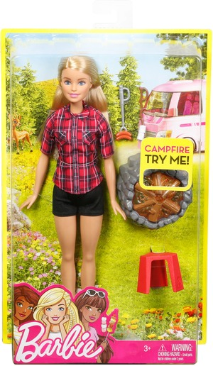 Barbie Lagerfeuer Set Puppe (blond) FDB44