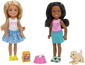 Barbie Chelsea 2er-Pack Puppen und Zubehör - Tierpflege FHK97