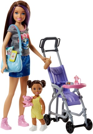 """Barbie """"Skipper Babysitters Inc."""" Puppen und Kinderwagen Spielset FJB00"""