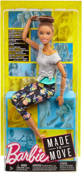 Barbie Made to Move Puppe (brünett) FTG82