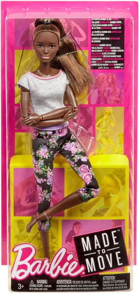 Barbie Made to Move Puppe (brünett mit Afro-Style) FTG83