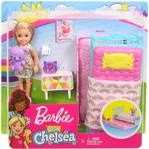 Barbie Chelsea Puppe und Schlafzimmer-Spielset FXG83