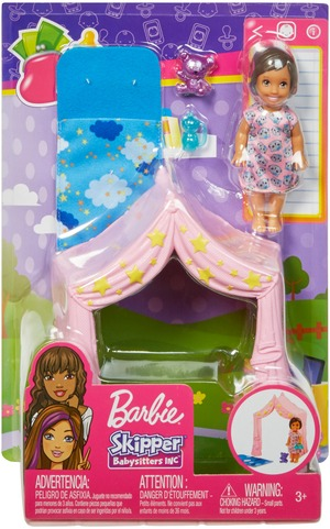 Barbie BRB Skipper Schlafenszeit-Spielset FXG97A1