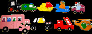 Barbo Toys 9 Puzzles Barbapapa Transporte 52 Stk 30132210