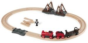 BRIO Dampflok Bahnset 21 Teile, Holz, Kunststoff, 662x492 mm, Batterielok 40233030