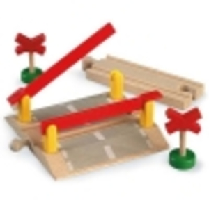 BRIO Bahnübergänge 2-er Set 6-teilig, 2 Bahnübergänge und 4 Rampen, 108 mm 40233207