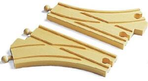 BRIO Bogenweichen, 2 Stück Holz, 144 mm, passend zu allen Briobahnen 40233346