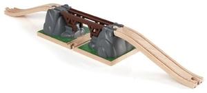 BRIO Einsturz Brücke 3-teilig, 66x12.4x7.7 cm, Holz/Kunststoff 40233391