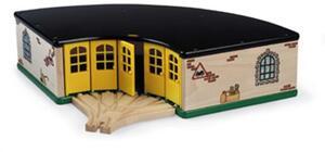 Grosser Ringlokschuppen 2 Teile, Holz, Kunststoff 372x372x107mm 40233456