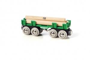BRIO Langholzwagen 4 Teile, Holz, Kunststoff, 123x34x45 mm 40233696