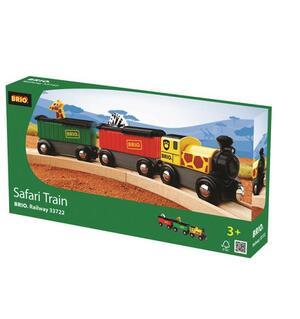 BRIO Safari Zug 3-teilig, 25x3.4x5 cm, Lok mit 2 Wagen und 2 Tieren 40233722
