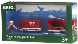 BRIO Roter Akku-Reisezug 3-teilig, 18.9x3.7 cm, Batterien 2xAAA inkl. 40233746