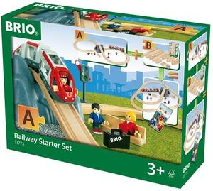 BRIO Bahn Starter Set 26-teilig, ø 100x45 cm, Holz/Kunststoff