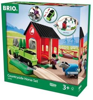 BRIO Pferde Spiel und Bahn-Set 28-teilig, 65x71 cm, Batterien 1xAA exkl. 40233790