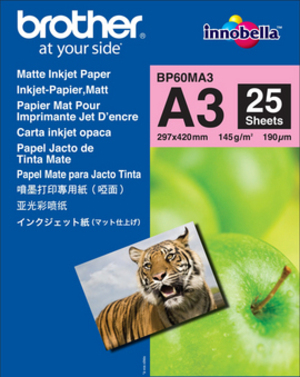 Brother InkJet Paper matt 145g A3 BP60-MA3