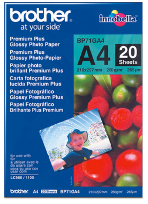 Brother Photo Paper glossy 260g A4 BP71-GA4