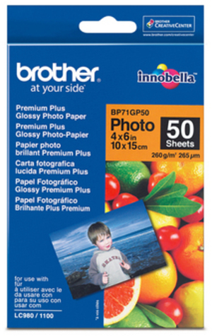 Brother Papier 10x15cm 50 Blatt BP71GLP50