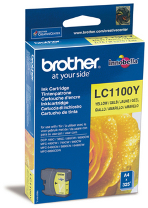 Brother Tintenpatrone yellow LC-1100Y
