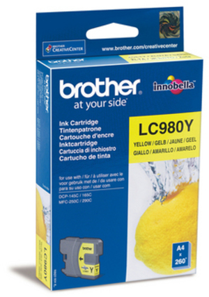 Brother Tintenpatrone yellow LC-980Y