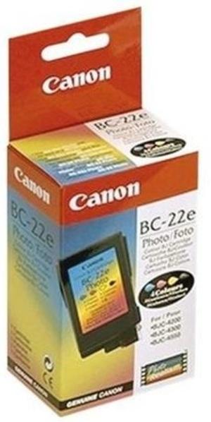 Canon 0902A002 Foto TPA, BC22e, farbig, 24ml, 90s<br> (farbig Canon Foto Tintenpatrone, farbig BC22e 90 Seiten 24ml ) 902A002