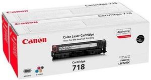 Canon Toner 718 Black 2Pk 2662B005