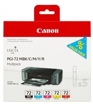 Canon Ink Cart PGI-72 MBK/C/M/Y/R Multi Pack 6402B009