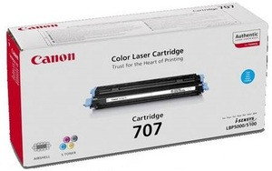 Canon Toner 707, cyan 9423A004