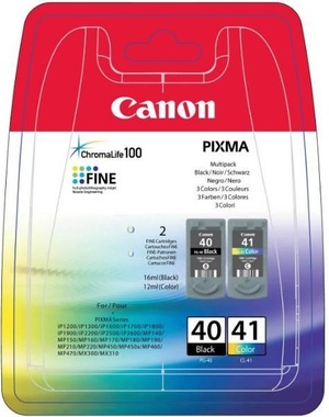 Canon Multipack Tinte schwarz/color PG-40CL-41