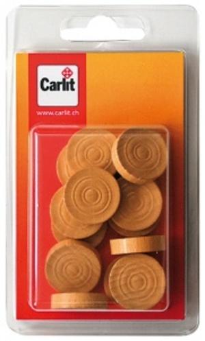 Carlit Dame Steine weiss Holz, 15 Stück Carlit 60590300