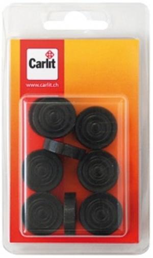Carlit Dame Steine schwarz Holz, 15 Stück Carlit 60590301