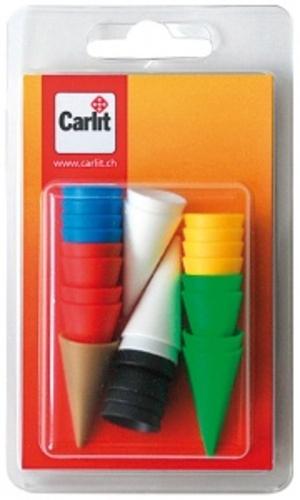 Carlit Ersatzhütchen für Fang den Hut, 6 Farben à 4 Stück und 1 x gold 60590319