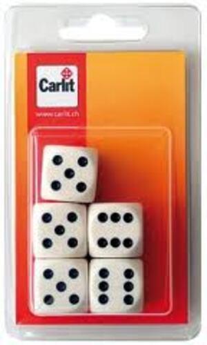 Carlit Würfel weiss, 22 mm 5 Stück, Kunststoff 60590323