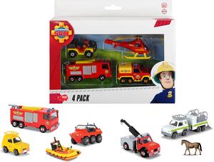 Dickie Spielzeug Feuerwehrmann Sam 4 Pack, 3-sort. 203099630
