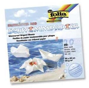 folia Folia Faltblätter aus Schwimmpapier Weiss 43200